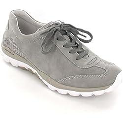 Gabor Comfort Damenschuhe 46.965.41 Damen Schnürhalbschuhe Sneaker Leder (Nubukleder) Grau (fumo/visone), EU 43