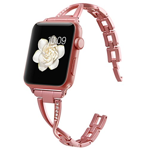 1e934bc3c63e Greatfine para Apple Watch Correa 38mm 42mm Acero Inoxidable Pulsera Band  Sport Banda de la Muñeca