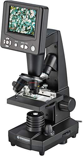 """Bresser Durchlicht und Auflicht LCD-Mikroskop 50x-500x, (2000x digital),5 Megapixel Sensor und 8.9cm (3.5""""), inklusive Kreuztisch zur Objektverstellung, SD Karten Anschluss und umfangreichem Zubehör"""