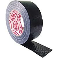 All Trade Direct 1 X Black Gaffer 50Mm X 50M Waterproof Adhesive Cloth Duct Tape Gaffa Duck Tank