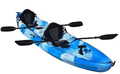 Cambridge Kayaks Double + 1 Sit On Top Fishing Kayak includes 4 Rod Holders, 2 Storage Hatches, 2 Padded Seat & 2 Paddles from Cambridge Kayaks Ltd