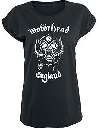 Motörhead England Girl-Shirt schwarz