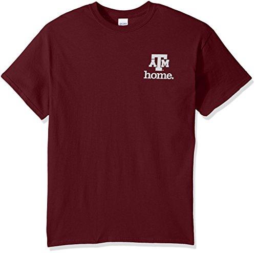 New World Graphics NCAA Texas A&M Aggies State of Mind Kurzarm-T-Shirt, Größe L, Kastanienbraun Texas A&m University Atm