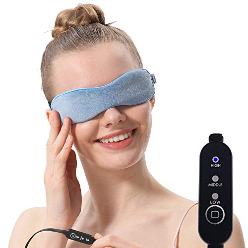 Aroma Season beheizbare Augenmaske mit feuchter Wärme zur Behandlung von Blepharitis, Gerstenkorn und Meibom-Drüsen-Dysfunktion. Wärmetherapie der Drüsen und zur Befreiung vom Trockene-Augen-Syndrom