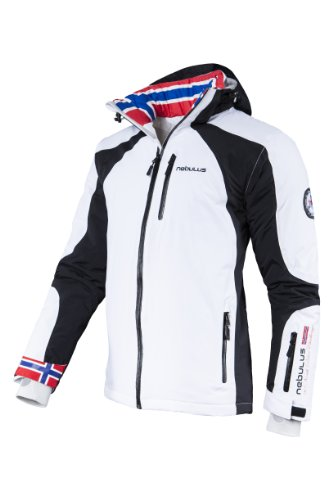 Nebulus Herren Skijacke Davos, XL / EU 52, Weiß
