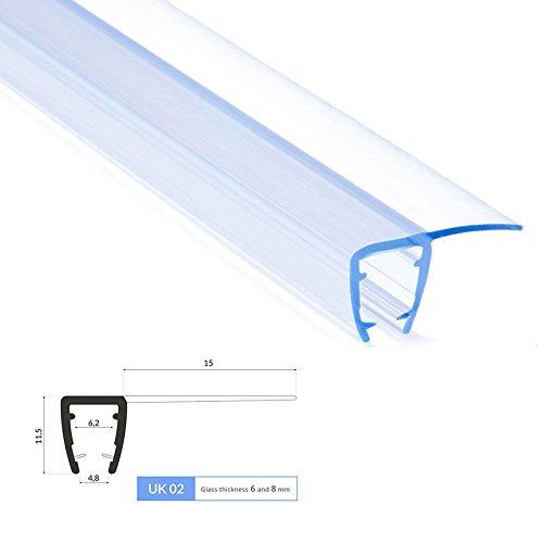0.6m Joint de douche UK02 pour 6 et 8mm epaisseur d'ecrans