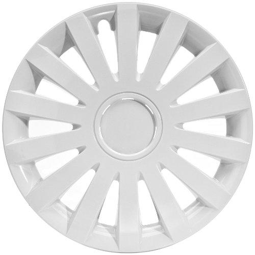"""ALBRECHT automotive 49254 Tapacubos Wind 14"""" pulgadas, 4 Unidades, Blanco Plus"""