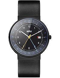 Braun Unisex-Armbanduhr BN0142BKBKG Analog Quarz Leder BN0142BKBKG