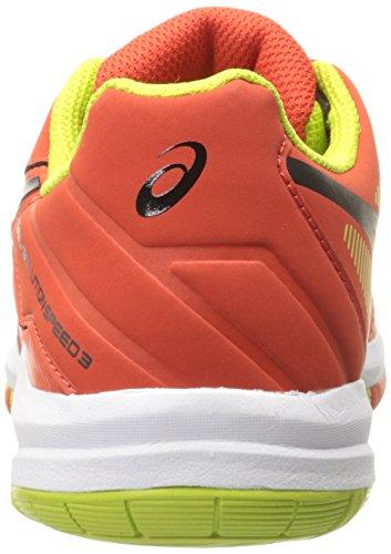 Asics Gel-Solution Speed 3 GS Kunstleder Tennisschuh Orange/Black/Lime
