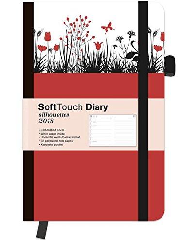 SoftTouch Silhouettes Tulips 2018 - Weekly Planner, Buchkalender, Taschenkalender  -  9 x 14 cm (Silhouette Blume)