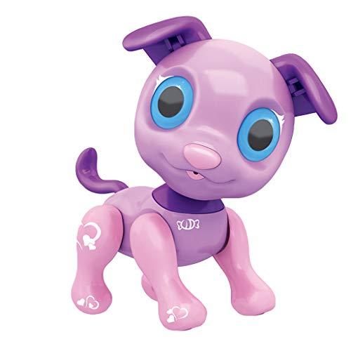Zhen+ Spielzeug Roboter Hunde für Kinder, mit LED Auge, Berühren Sie den elektrischen Roboter Haustier, Roboterhund, Den Kopf schütteln, Essen, rennen, tanzen, vokalisieren, Super Geschenk (Lila)