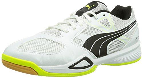 Puma  Virante LT, Chaussures de foot pour femme Blanc - Weiß (white-black-fluro yellow 01)