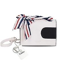 Yoome cadena bolsa Bowknot Zigzag plegable elegante bolsas para las mujeres Moda Bolsas para las niñas pequeñas bolsas de la aleta