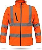 normani Softshell Warnschutzjacke nach EN 471 in Warnorange/Marine oder Neongelb/Marine Farbe Warnorange/Marine Größe XXL
