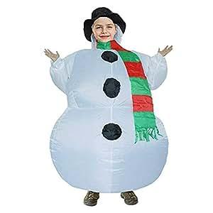 Christmas adulto bambini pupazzo di neve gonfiabile, costume, festa di Natale Decorazioni natalizie, unisex travestimento da soffiare vacanza costume Per bambini