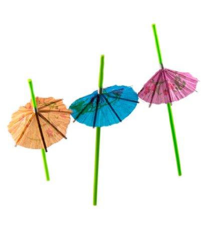 Perfekt Stix 20,3cm Neon Grün Regenschirm Luau und tropische Trinkhalme (48Stück)