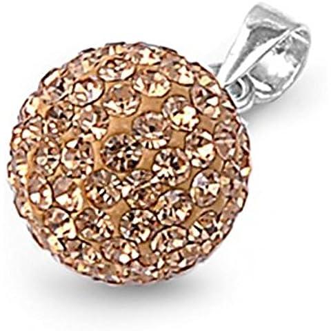 925 colgante de plata esterlina con Crystal Light Colorado Topaz