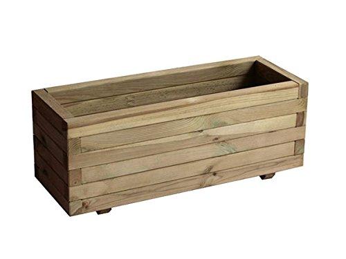 Garbric nbsp;– Jardinière rectangulaire droite 60 x 20 x 20,8 cm Bois traité