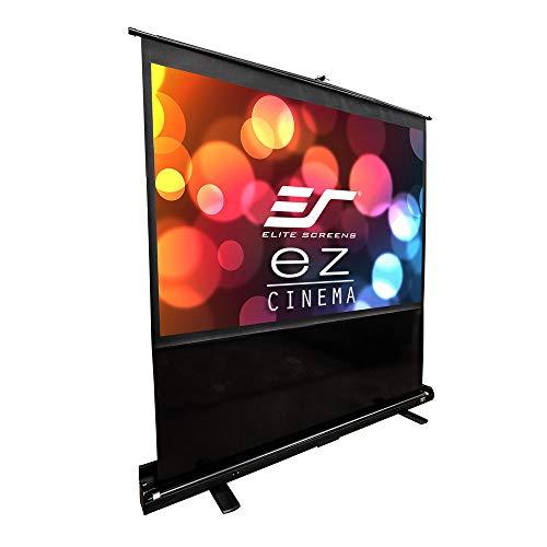 Elite Screens F84NWV ezCinema Series Leinwand (Diagonal 213,4 cm (84 Zoll), Höhe 128 cm (50,4 Zoll), Breite 170,7 cm (67,2 Zoll), Format 4:3) schwarz Diagonale Elite Screens
