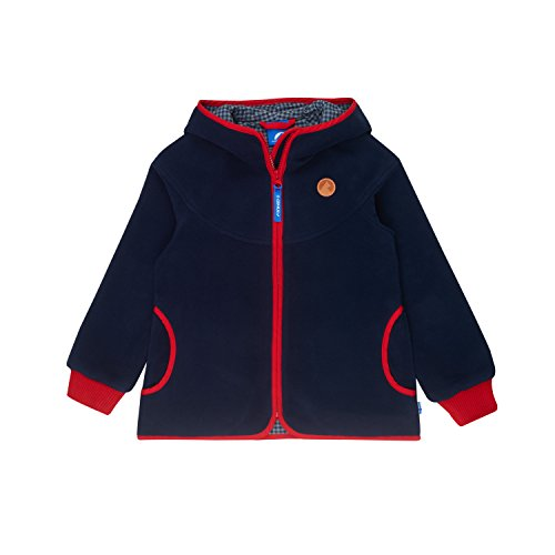 Finkid Laine navy red Zip In Mädchen Fleecejacke