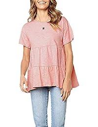 4daee85196 Mujeres Camisetas Verano T-Shirt Manga Corta Suelto Túnica Casual Blusas  Camisas Tops