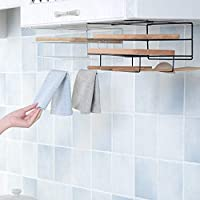 YSHUO Storage Organizer Cutting Board Holder Towel Rack Kitchen Organizer Wash Cloth Hook Shelf Bathroom Cabinet Cupboard Hanger