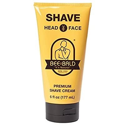 Bee Bald Shave Premium Shave Cream, 6 fl oz