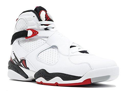 Nike Air Jordan 8 Retro - White/Gym red-Black-Wolf Grey, Größe:15