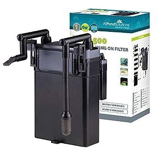 All Pond Solutions Aquarium Hang on Back External Filter 500L/H