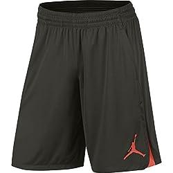 Nike Michael Jordan 23 Alpha Dry Knit Short Pantalón Corto, Hombre, Gris (Sequoia / Max Orange), XXL