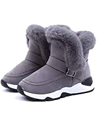 Niños Snow Boots Autumn and Winter Boys and Girls Comfortable Plus Velvet Thick Short Boots Medium Children's Cotton Shoes Non Slip Flat Wear Resistant Shoes