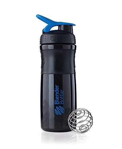 BlenderBottle Sportmixer Tritan Shaker | Protein Shaker | Wasserflasche | Diät shaker (820ml) - schwarz|blau