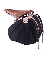Minnehaha lienzo bolsa para sillín de bicicleta, tamaño mediano