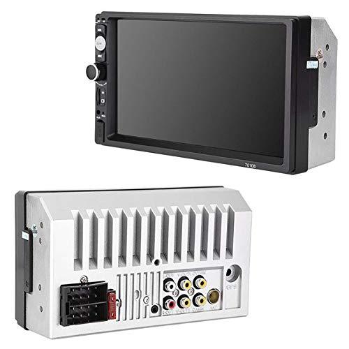 WWAVE Écran multimédia de Voiture Radio stéréo Audio 7 Pouces HD MP5 Tactile FM numérique USB Bluetooth écran Autoradio