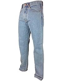 Mens Basic Hard Wearing Regular Fit Denim Jeans Waist 30-50 Leg 27 29 31 Comfort Casual Basic Plain Work Relaxed Pants Black Stonewash Blue Light Bleach Short Regular