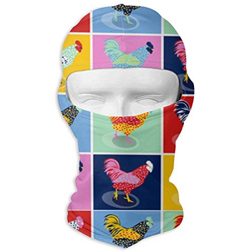 Bgejkos Pop Art Chickens Balaclava UV Protection Windproof -