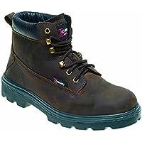 Toesavers 1101-10,0 doppia suola imbottita S3, stivali di sicurezza, misura 10, colore: marrone