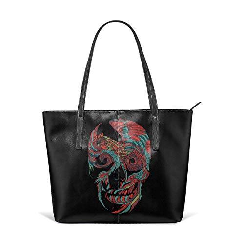 XGBags Custom Frauen Umhängetaschen Durable Rooster Skull Leather Handbag Tote Bag For Women -