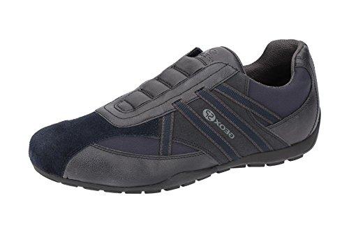 Geox U823FB Uomo Ravex Sportlicher Herren Sneaker, Halbschuh mit Gummizug, Schlüpfschuh, Slipper, Freizeitschuh, Atmungsaktiv Blau (Blau), EU 40