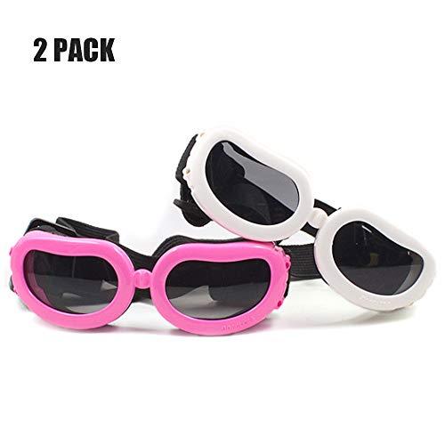 YOCC Pet Brille, Pet Goggles Doggie Sonnenbrillen Dog Snow Goggles Big Dog Schutzbrillen Verstellbares Band UV-Schutz Faltbar Winddicht