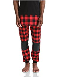 Pizoff Unisex Hip Hop Jogger Harem Pants With Faux Leather and Golden Chain
