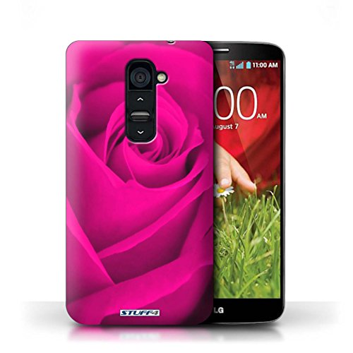 Kobalt® Imprimé Etui / Coque pour LG G2 / Pourpre conception / Série Rose Rose