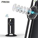 1080P HD WLAN IP Kamera Indoor Haustier Kamera Sicherheitskamera IP Cam Überwachungskamera FREDI WLAN Netzwerk Kamera mit IR Nachtsicht/Bewegungsmelder /Baby Monitor (schwarz)