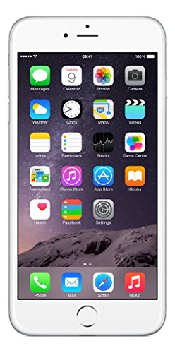 Apple iPhone 6 Plus, 5,5' Display, SIM-Free, 64 GB, 2014, Silber (Generalüberholt)