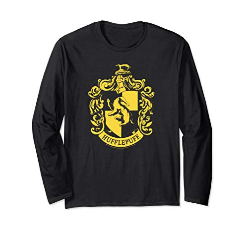 Harry Potter Hufflepuff Crest Langarmshirt -