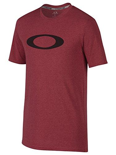 Oakley Herren T-shirt O-mesh Ellipse Ember Lt Htr