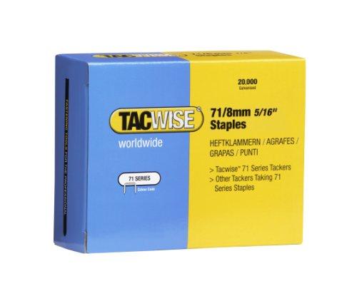 Tacwise 0368 Lot de 20000 Agrafes galvanisées 71/8 mm