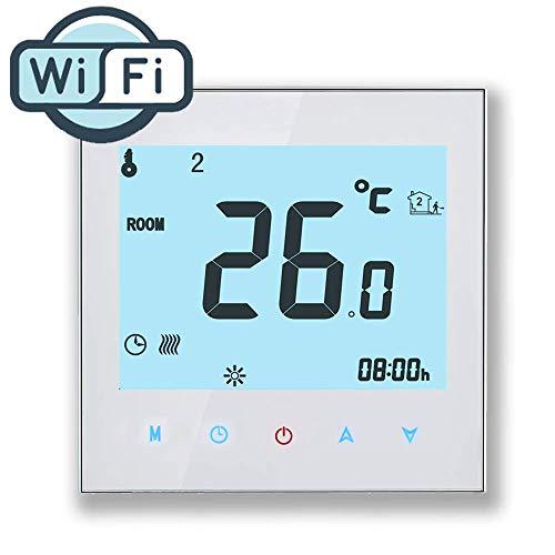 WiFi Thermostat, Arxus WiFi Steuerung LCD Touchscreen programmierbare Raumthermostat f¨¹r zentrale Klimaanlage/Heizung