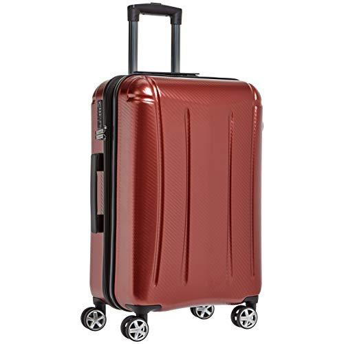 AmazonBasics - Oxford - Valise rigide à roulettes pivotantes - 61 cm, Rouge