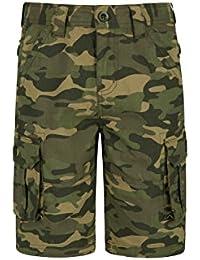 JIENIS-Denim Jungen Army Stretch Tarnhose in gr/ün Camouflage J38e